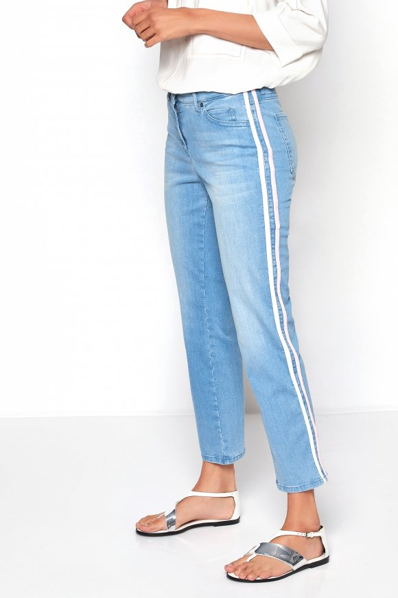 Ladies Jeans Perfect Shape Straight 7 8 Light Blue