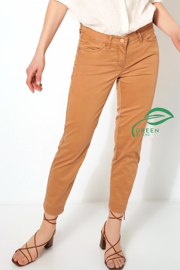 Trousers »Perfect Shape 7/8« cognac